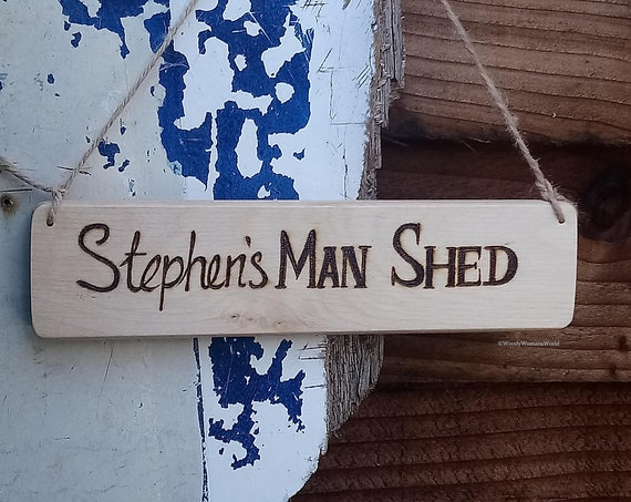 Man Shed Sign * Hut Sign * Custom made *Shed Sign -  Garden Sign -  Wooden Sign -  Personalised Plaque