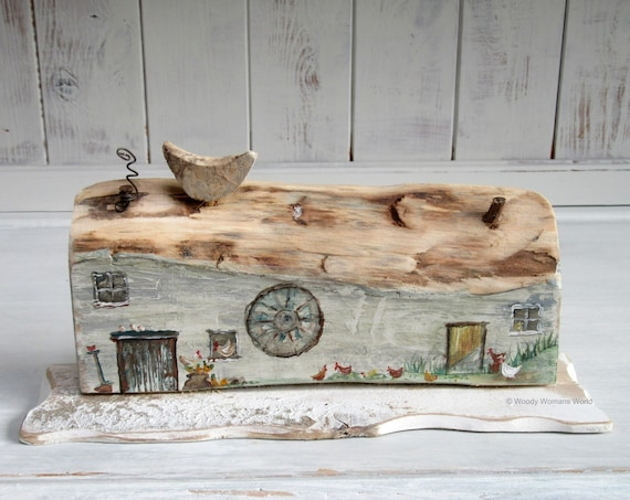 Driftwood * Wooden Cottage * Coastal Cottage * Rustic  * Welsh  Cottage * Handmade in Wales * Welsh Gift * Woody Womans World