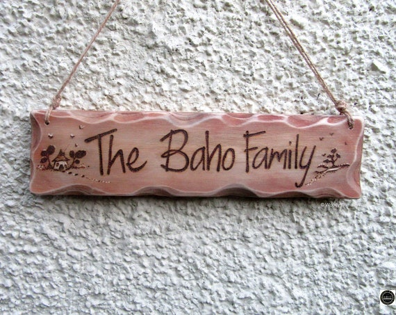 Family Sign * House Sign - Custom made *Shed Sign -  Garden Sign -  Wooden Sign - Beach Hut - Family Sign -  Personalised Plaque