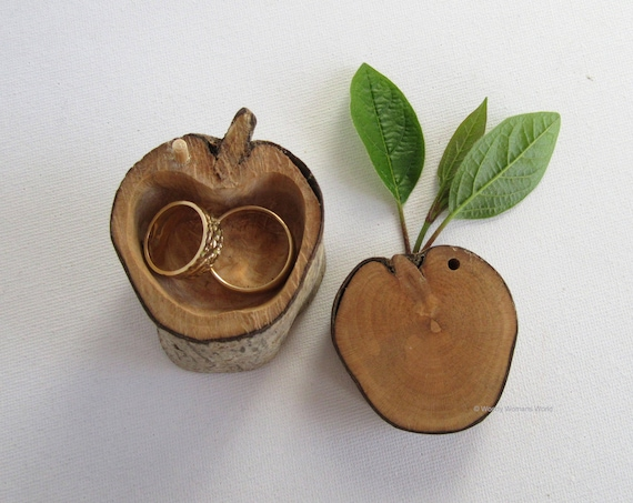 Rustic Ring Box * Personalised Ring Box * Wooden Ring Box * Engagement  Eco Wedding  * Fruity Collection  *  Handmade in Wales