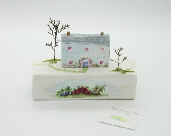 Wooden Cottage*  Handmade in Wales