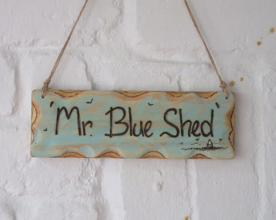 Shed Sign * Personalised Sign * Beach Hut Sign * Driftwood Style * Illustrated Sign *