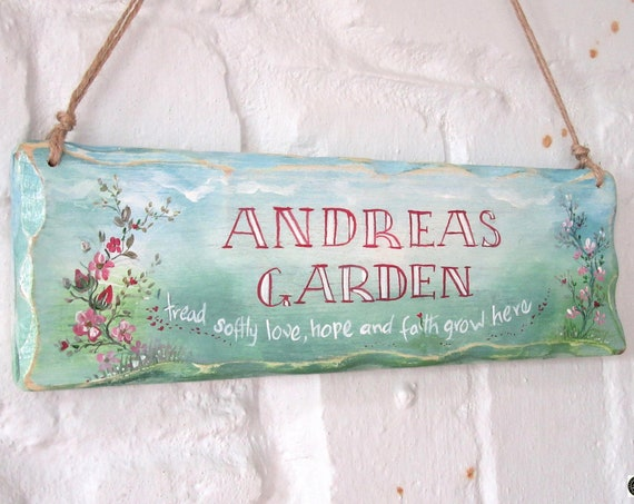 Wooden Sign * Handpainted Sign * Garden Inspirational sign * Room Sign *