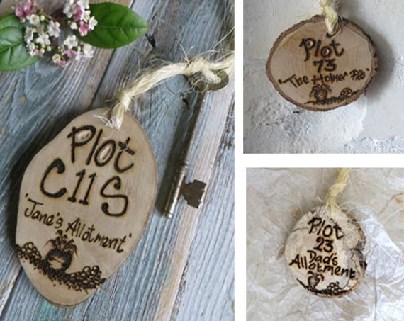 Allotment key fob *  Key ring * Key Fob * Allotment Sign * Personalised Key ring * Garden sign