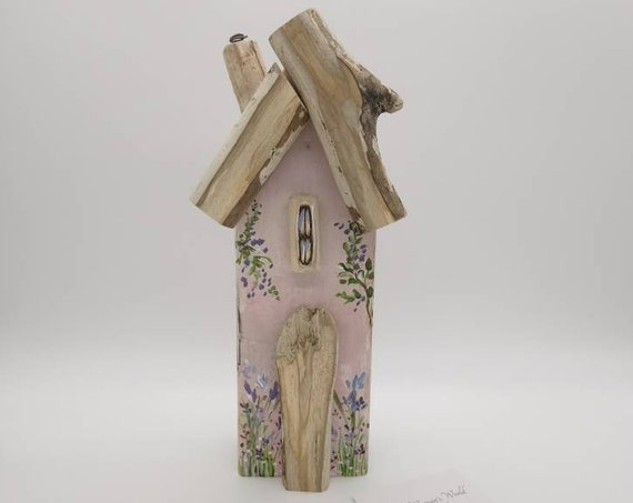 Wooden Cottage * Driftwood Cottage * Handmade in Wales