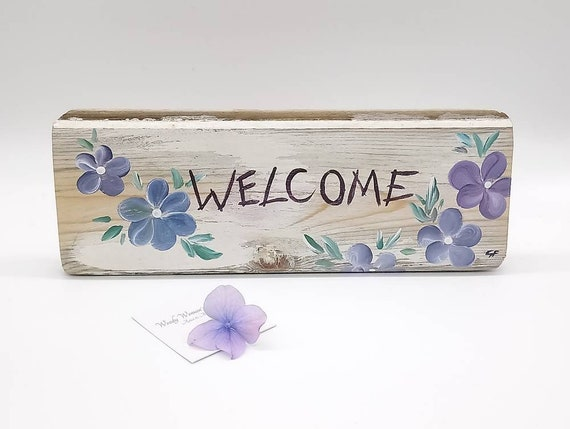 Wooden Sign * Welcome Plaque