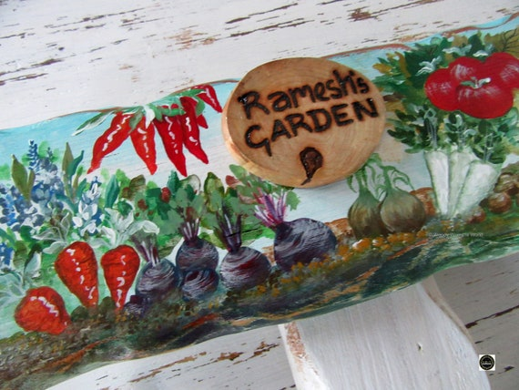 Wooden Sign * Allotment Garden Sign * Personalised  Sign * Origninal handpainting * Wales
