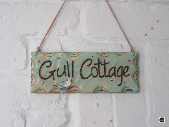 House Sign * Personalised Sign * Illustrated Sign * Handmade in Wales
