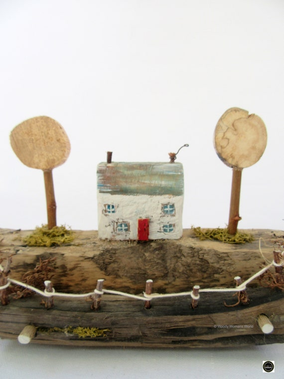 Driftwood * Wooden Cottage * Coastal Cottage * Wooden House  * Harbour * Handmade in Wales * Welsh Gift * Woody Womans World