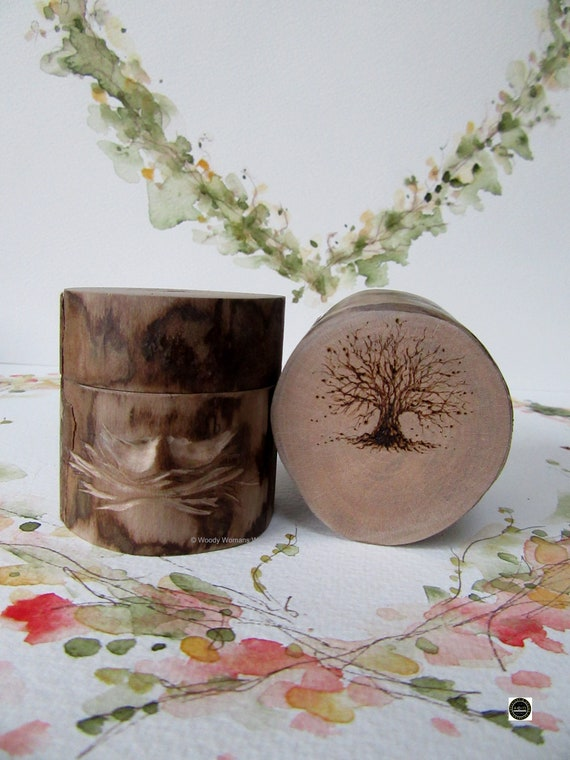 Wedding Ring Box * Personalised Ring Box *Ring Box * Rustic Ring Box * Lovebirds *  Engagement * Tree illustration *  Handmade in Wales
