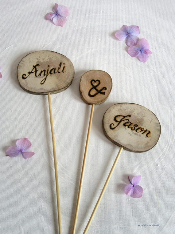 Wedding Cake Toppers * Personalised cake toppers  * Tree Carving * Rustic Wood Slices *