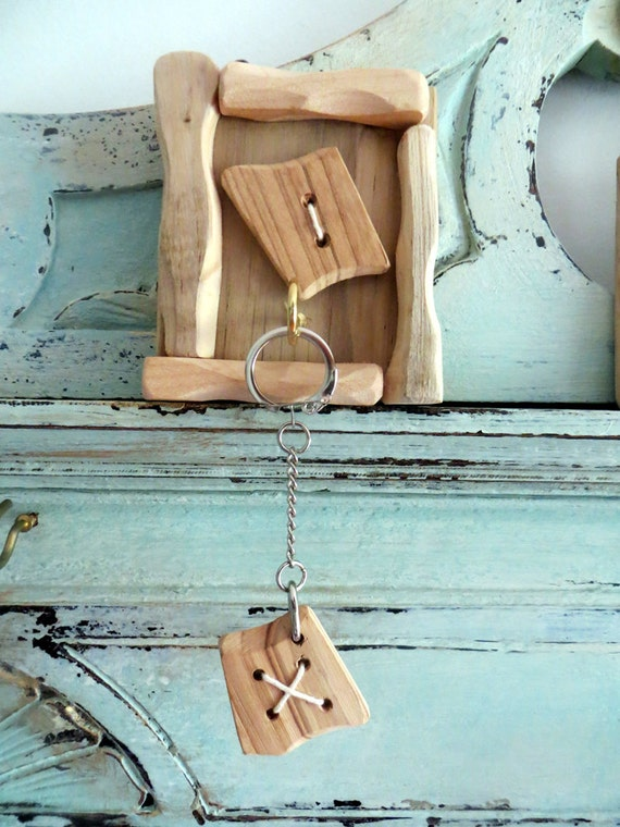 Handmade Wooden Key Rack - Driftwood Rustic Contemporary Alternative and Recycled Rack