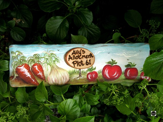 Allotment  Sign * Personalised Garden Sign * Handmade in Wales