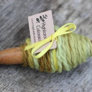 Plant-dyed Shetland Yarn Olive Handspun