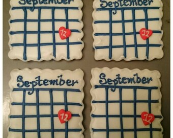 Save the Date Sugar Cookies ( Dozen)