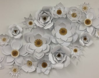 Large Paper Flowers-Backdrop-Wedding Arch-Photo Booth-Flower Wall-Birthday Party-Nursery Art-Custom-Living Room Decor-Bedroom D