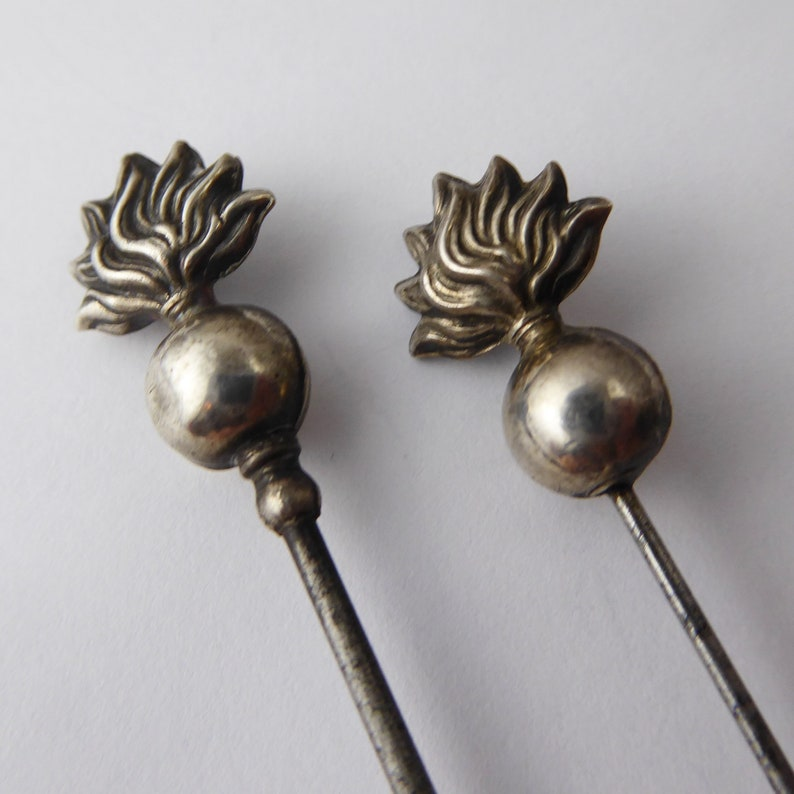 Antique Art Deco Sterling Silver Charles Horner Hat Pins