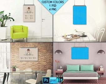 A1 A2 A3 A4 Vertical & horizontal poster on interior wall
