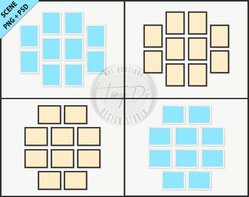 8b7a81bd2085 8x10 Set of 10 White   Black Frames Photoshop print Mockup