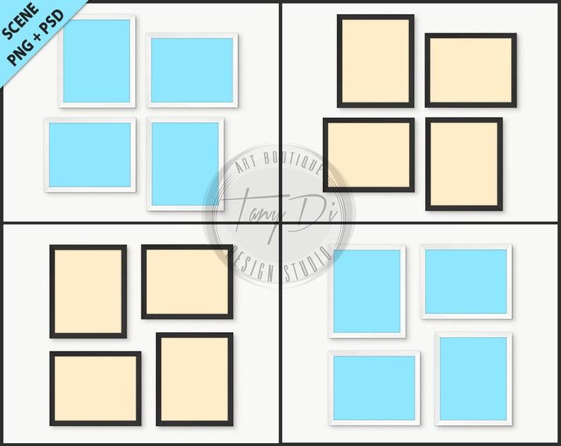 08b721bd26d5 8x10 Set of 4 White   Black Frames Photoshop Print Mockup 4