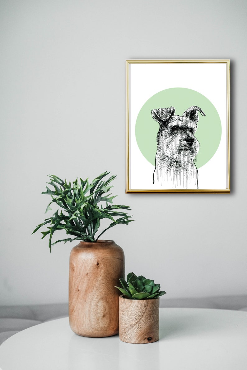 Pet sketch from photo Ideal Christmas Gift for Dog Lovers black and White printable artwork dog portrait Custom dog painting