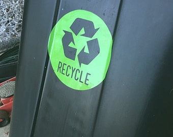 Recycle Sticky Vinyl | Recycle Decal