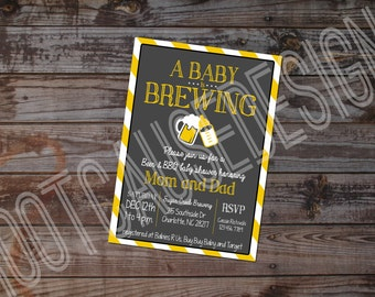 A Baby is Brewing Baby Shower Invitation | Couples Baby Shower Invitation