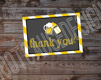 A Baby is Brewing Baby Shower Thank You cards | Couples Baby Shower