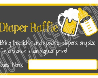 A Baby is Brewing Baby Shower Diaper Raffle, set of 12 | Couples Baby Shower