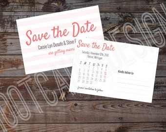 Post Card Save the Date | Wedding Save the Date | Customizable Save the Date