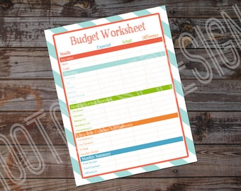 Home Monthly Budget Printable | Customizable Monthly Budget