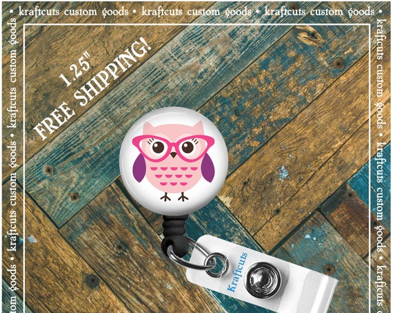 Retractable ID Badge Reels - Owl. Great gift for Doctors, nurses, teachers and corporate employees! FREE SHIPPING