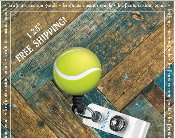Retractable ID Badge Reels - Tennis Ball. Great gift for Doctors, nurses, teachers and corporate employees! FREE SHIPPING