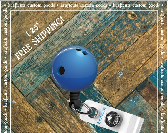 Retractable ID Badge Reels - Bowling Ball. Great gift for Doctors, nurses, teachers and corporate employees! FREE SHIPPING