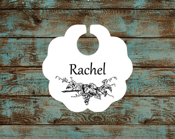 Personalized Wine Charms - Grapevine Wine Glass Charms #603 FREE SHIPPING!