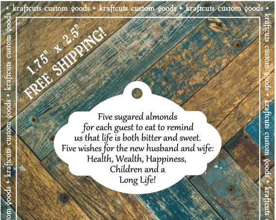 Jordan Almond Favor Tags #611 FREE SHIPPING!