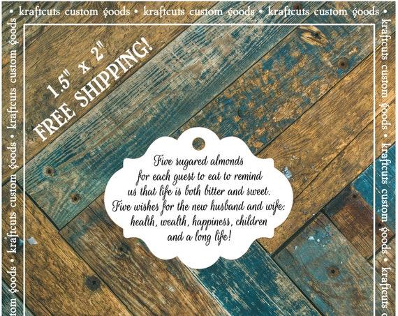 Jordan Almond Favor Tags #803 FREE SHIPPING!