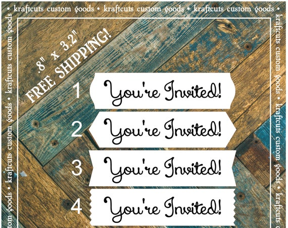 Envelope Seals / Stickers - You're Invited # 730 FREE SHIPPING!