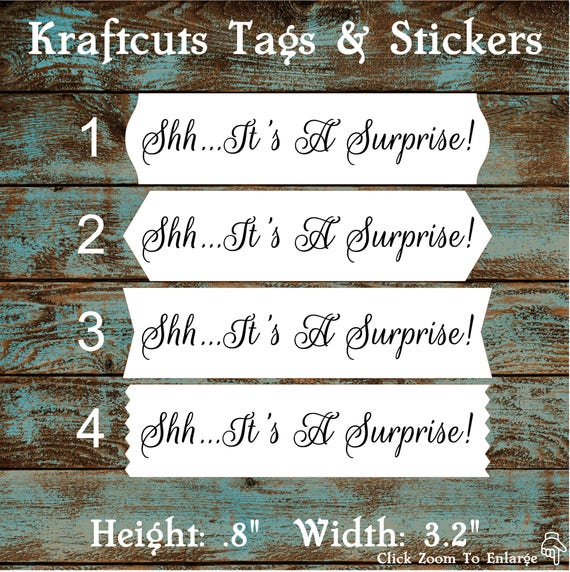 Envelope Seals / Stickers - It's a Surprise # 733 FREE SHIPPING!