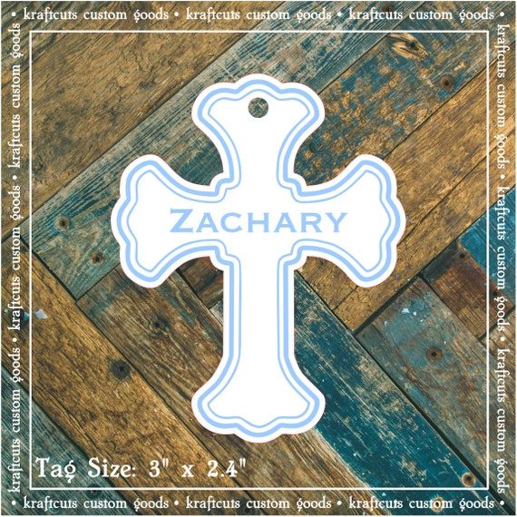 Baptism, Christening or First Communion Religious Favor Tags - Baby Boy Blue #200B FREE SHIPPING!