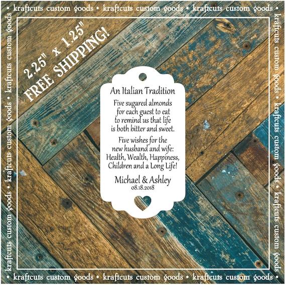 Jordan Almond Favor Tags #794 FREE SHIPPING!
