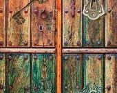 Old Wood Pattern - Decorative Decoupage Paper - 3 PCS Green Brown Orange
