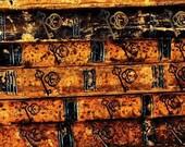 Old Book Pattern - Decorative Decoupage Paper - 3 PCS Black Yellow Brown