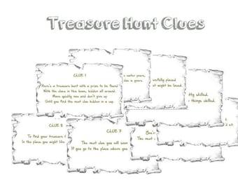 graphic regarding Christmas Scavenger Hunt Printable Clues identify Indoor Xmas Treasure Hunt Clues Printable Prompt Etsy