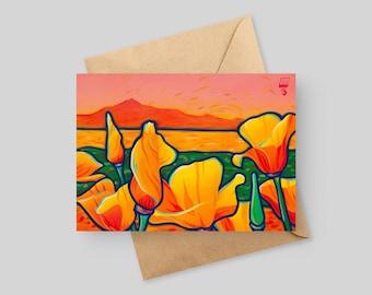 Tamalpais Poppies - 5x7 Greeting Card