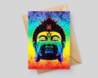 Rainbow Buddha - 5x7 Greeting Card