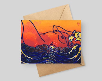 Sunset Becomes Her - 5x7 Greeting Card