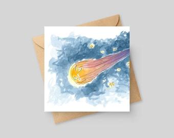 Shooting Star - Fine Art Greeting Card