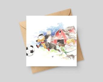 Soccer Game - Fine Art Greeting Card