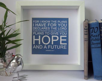 For I Know the Plans Frame, A beautiful Christian Gift